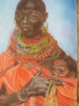 Maasai Mother and Child - £6.50 GBP